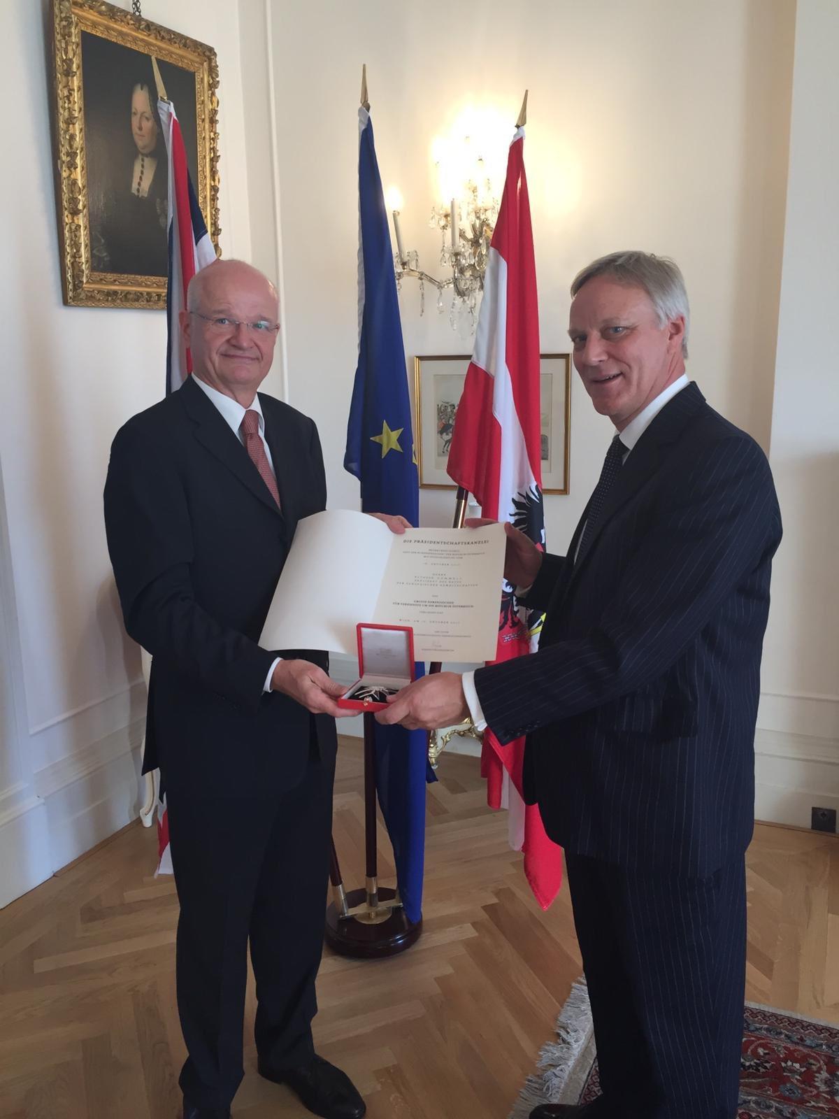 Murray Beith Murray Partner, Ruthven Gemmell, is honoured